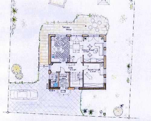 plan f r haus mit 126 m klein der zimmerei holzbau. Black Bedroom Furniture Sets. Home Design Ideas
